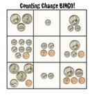 Grade 1: Counting Change Bingo Cards (Assessment)