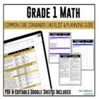 Grade 1 Mathematics Common Core Checklist