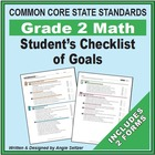 Grade 2 Student&#039;s 2-Page Checklist of Math Objectives for CCSS