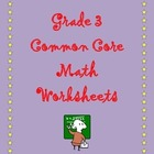 Grade 3 Common Core: Measurement and Data Math Worksheet 3