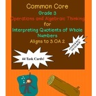 Grade 3 Math Common Core 3.OA.2 Interpreting Quotients