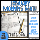 Grade 3 Morning Math Review: January