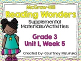 Grade 3 Reading Wonders Supplemental Activities Unit 1, Week 5