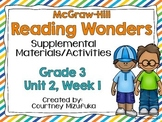 Grade 3 Reading Wonders Supplemental Activities Unit 2, Week 1