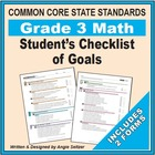 Grade 3 Student&#039;s 2-Page Checklist of Math Objectives for CCSS