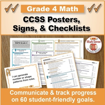 Grade 4 Common Core Math Standards Posters ~ CCSS Overview