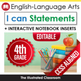 Fourth Grade Common Core Standards Posters I Can Statements - ELA