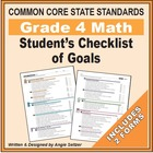 Grade 4 Student&#039;s 2-Page Checklist of Math Objectives for CCSS