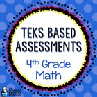 Grade 4 TEKS Based Math Assessments and Student Data Graphs