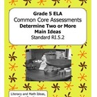 Grade 5 Common Core Assessments:  Determine Two or More Ma