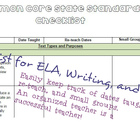 Grade 5 Common Core Checklist ELA, Writing, and Math