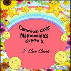Grade 5 Common Core Mathematics &quot;I CAN&quot; Statements