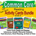 Grade 5 Common Core Reading Activity Cards Bundle