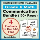 Grade 6 Common Core Math Communication Bundle (Posters, Go