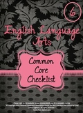 Grade 6 ELA Common Core Checklist - Black and Pink Theme