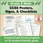 Grade 8 Common Core Math Standards Posters ~ CCSS Overview