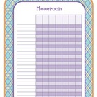 Grade Book or Attendance Book Pages - Argyle