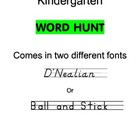 Grade K Word Hunt