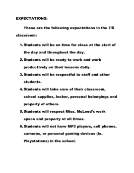 Grade Seven/Eight Parent Handbook