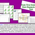 Grade Three Common Core Lesson Pack