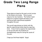 Grade Two Long Range Plans in Ontario