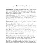 Grade school job descriptions