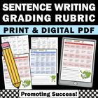 Grading Rubric Assessment: Sentence Writing