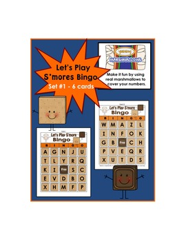 Graham Cracker Bingo Set #1  (Cards 1-6)