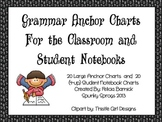 Grammar Anchor Charts For the Classroom and Student Notebooks