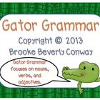 Grammar Gator Task Cards
