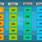 Grammar Jeopardy with Nouns, Verbs, and Adjectives
