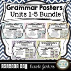 Grammar Posters BUNDLE Units 1-5