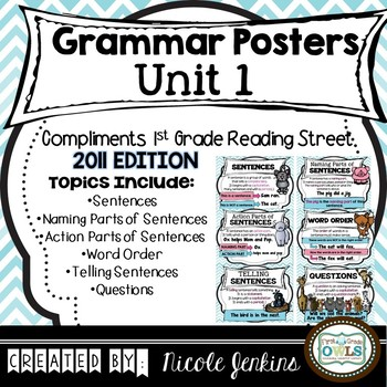 Grammar Posters Unit 1 (Reading Street)