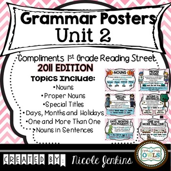 Grammar Posters Reading Street Unit 2 - 2011 Version