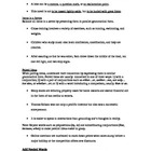 Grammar - Parallelism Notes and Worksheet