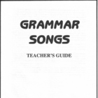 Grammar Songs Teacher's Guide from Grammar Songs CD Kit