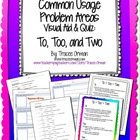 Grammar Usage: To, Too, and Two Quiz & Anchor Chart