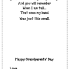 Grandparents Day Handprint Poem {Freebie}