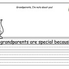 Grandparent's Day writing template