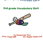 Grandpa's Baseball Card Vocabulary Quiz