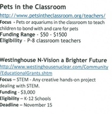Grant Money for Your Classroom Finding Funding September 2013