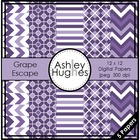 Grape Escape {12x12 Digital Papers for Commercial Use}