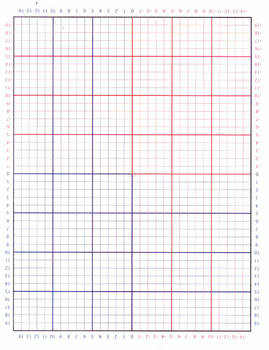 Graph Paper (Positive lines are black and negative lines a