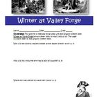 Graphic History: Winter at Valley Forge Activity and Answer Key