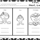 Graphic Organizers for Treasures Unit 1 {Family}