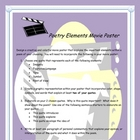 Graphic Representation: Poetry  Literary Elements Movie Poster