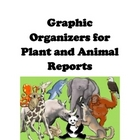 Graphic organizers for Animal and Plant Reports