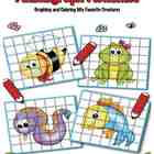 Graphing Animals - Learning to draw and coloring activity