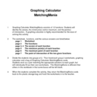 Graphing Calculator MatchingMania