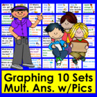 Graphing Cards for Pocket Chart - 10 Sets Questions and Re